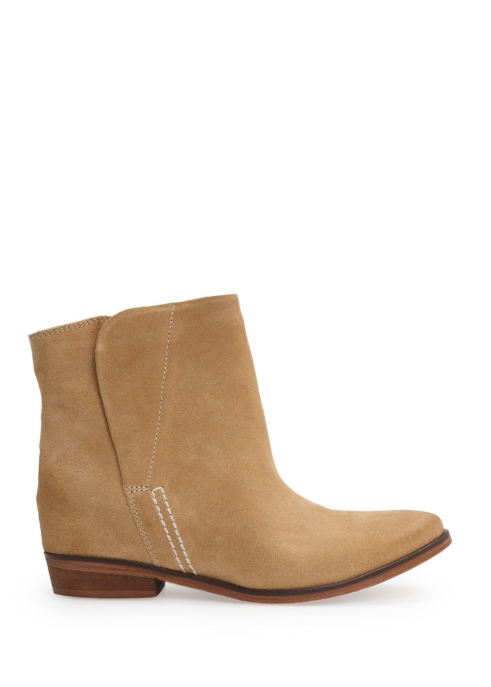 Concealed wedge suede ankle boots | MANGO