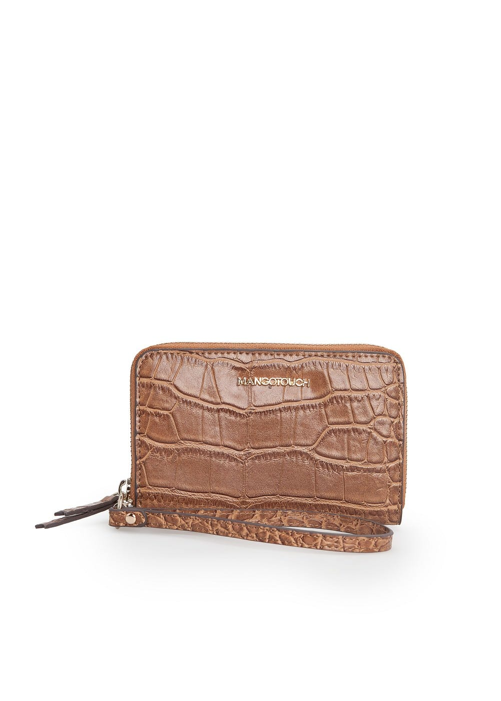 Croc-effect coin purse | MANGO