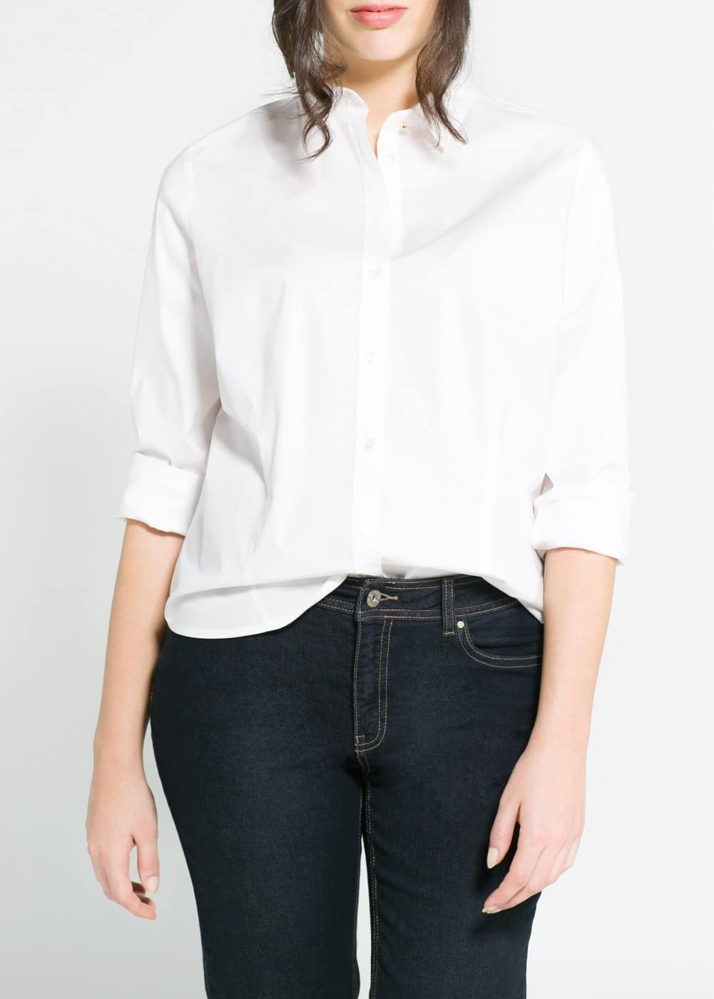Cotton modal-blend shirt | MANGO