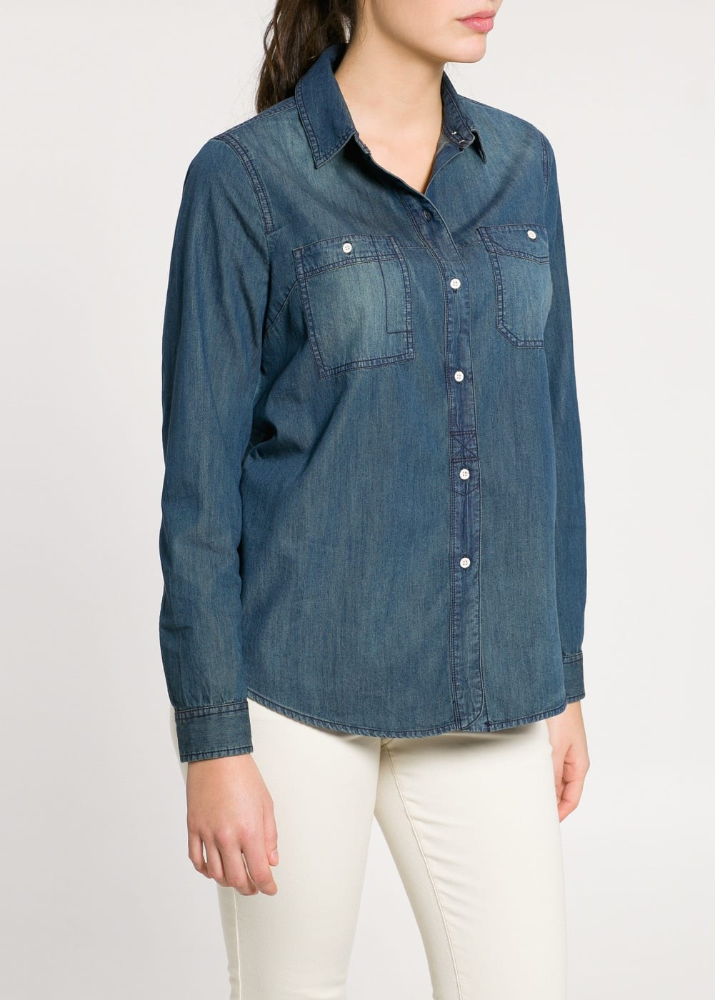 Camicia denim scuro | MANGO MAN