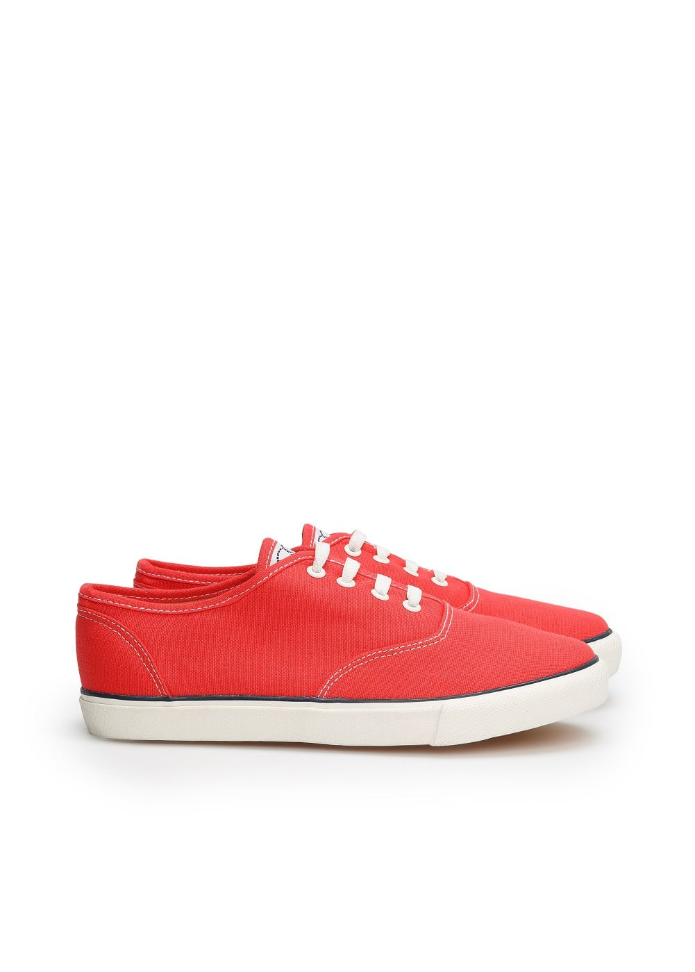Lace-up canvas sneakers | MANGO KIDS