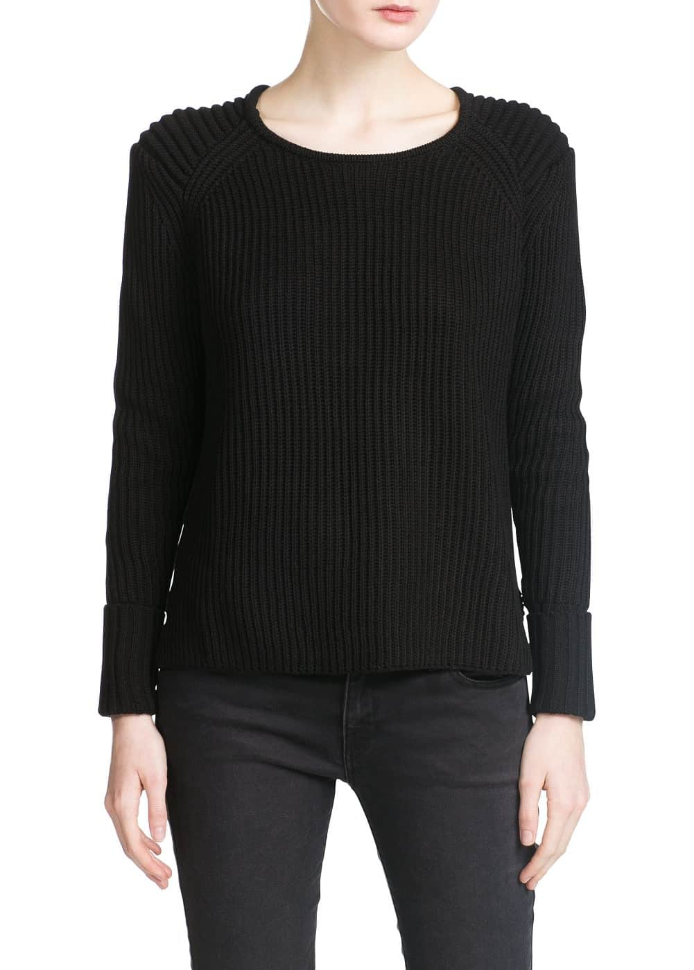 Ribbed sweater | MANGO