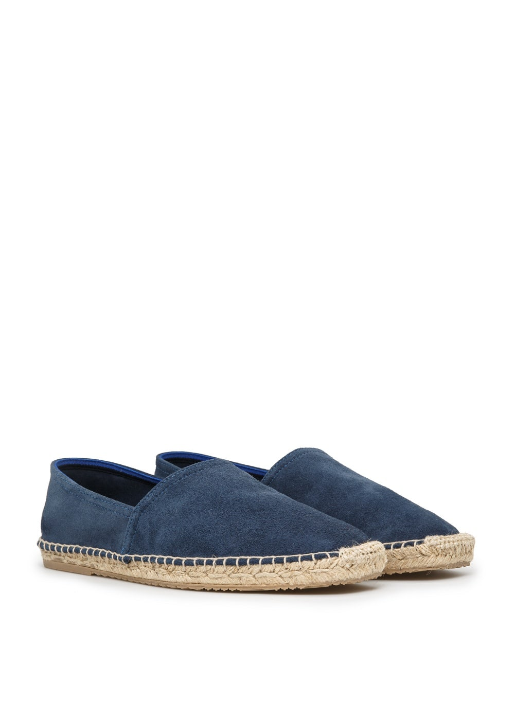 Jute sole suede slip-on shoes | MANGO