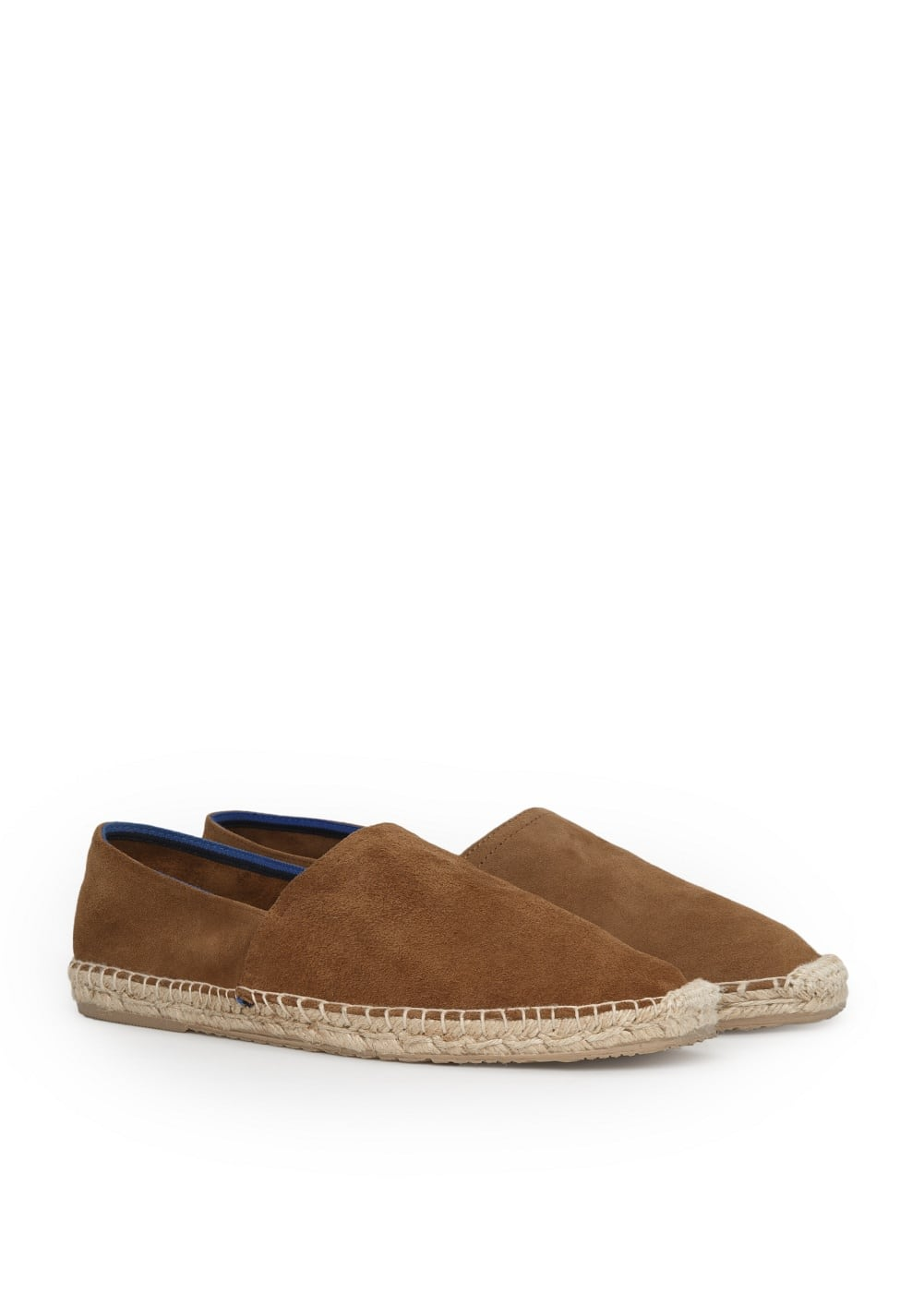 Jute sole suede slip-on shoes | MANGO MAN