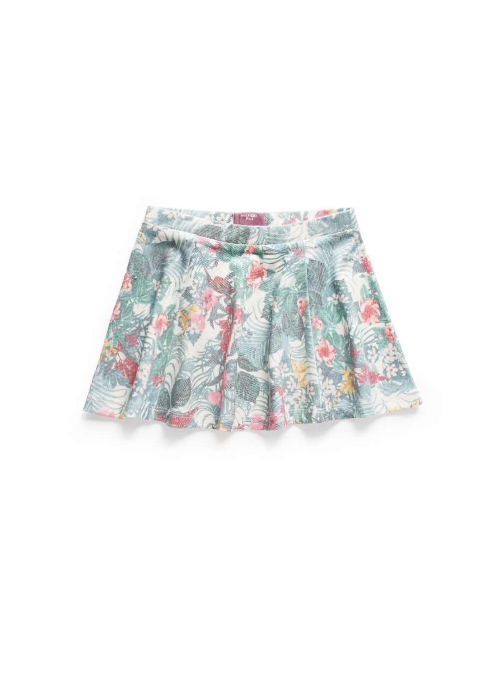 Tropical print skirt | MANGO