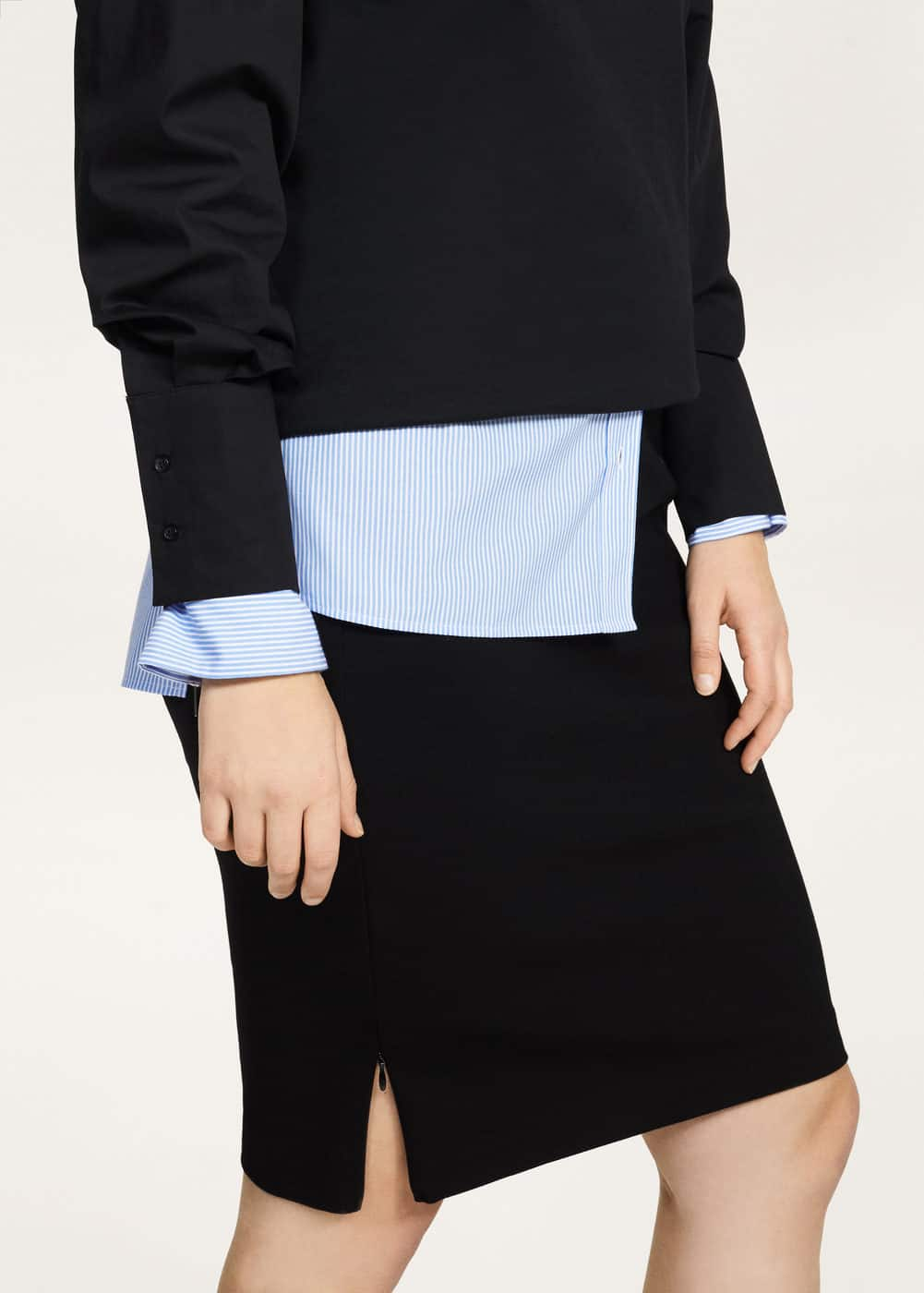 Zips pencil skirt  | VIOLETA BY MANGO