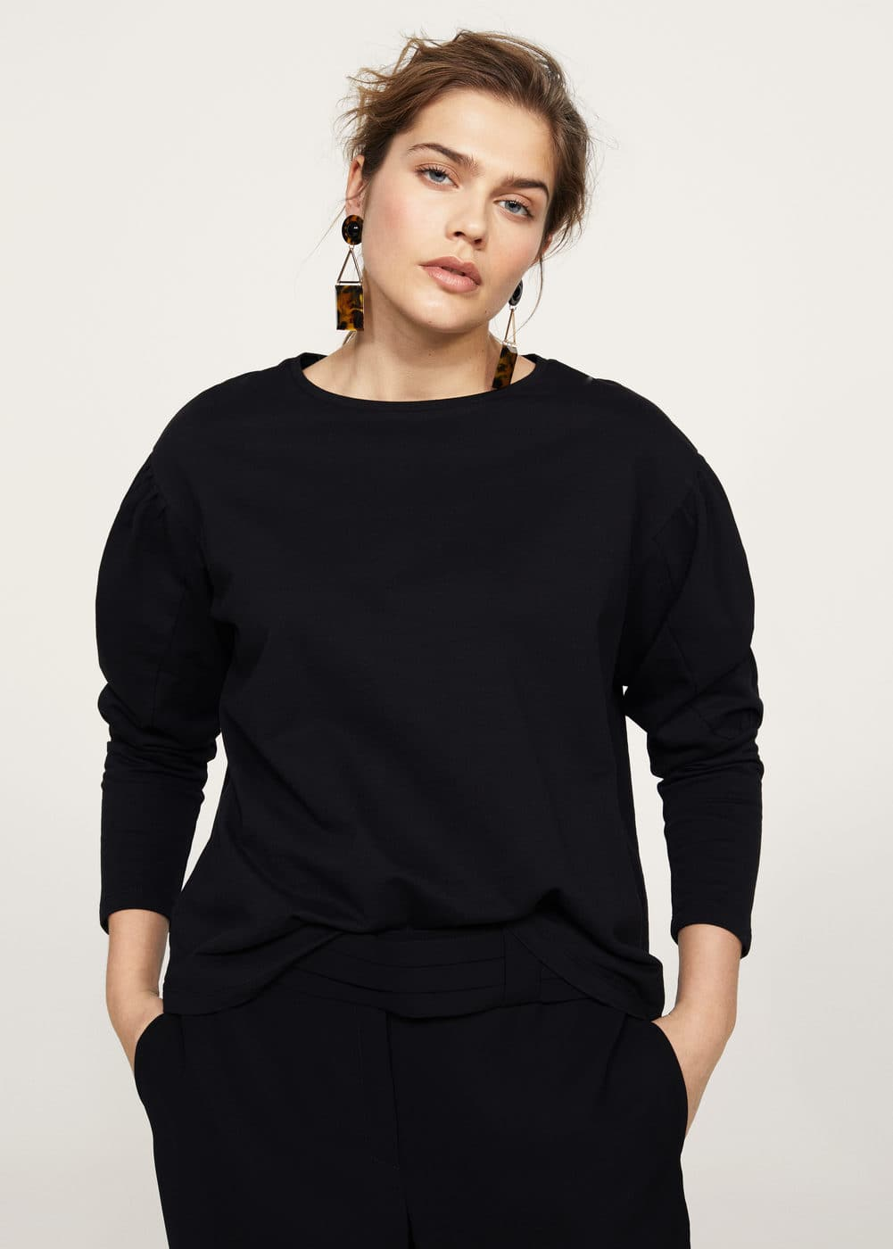 Puffed sleeves sweatshirt | VIOLETA BY MANGO