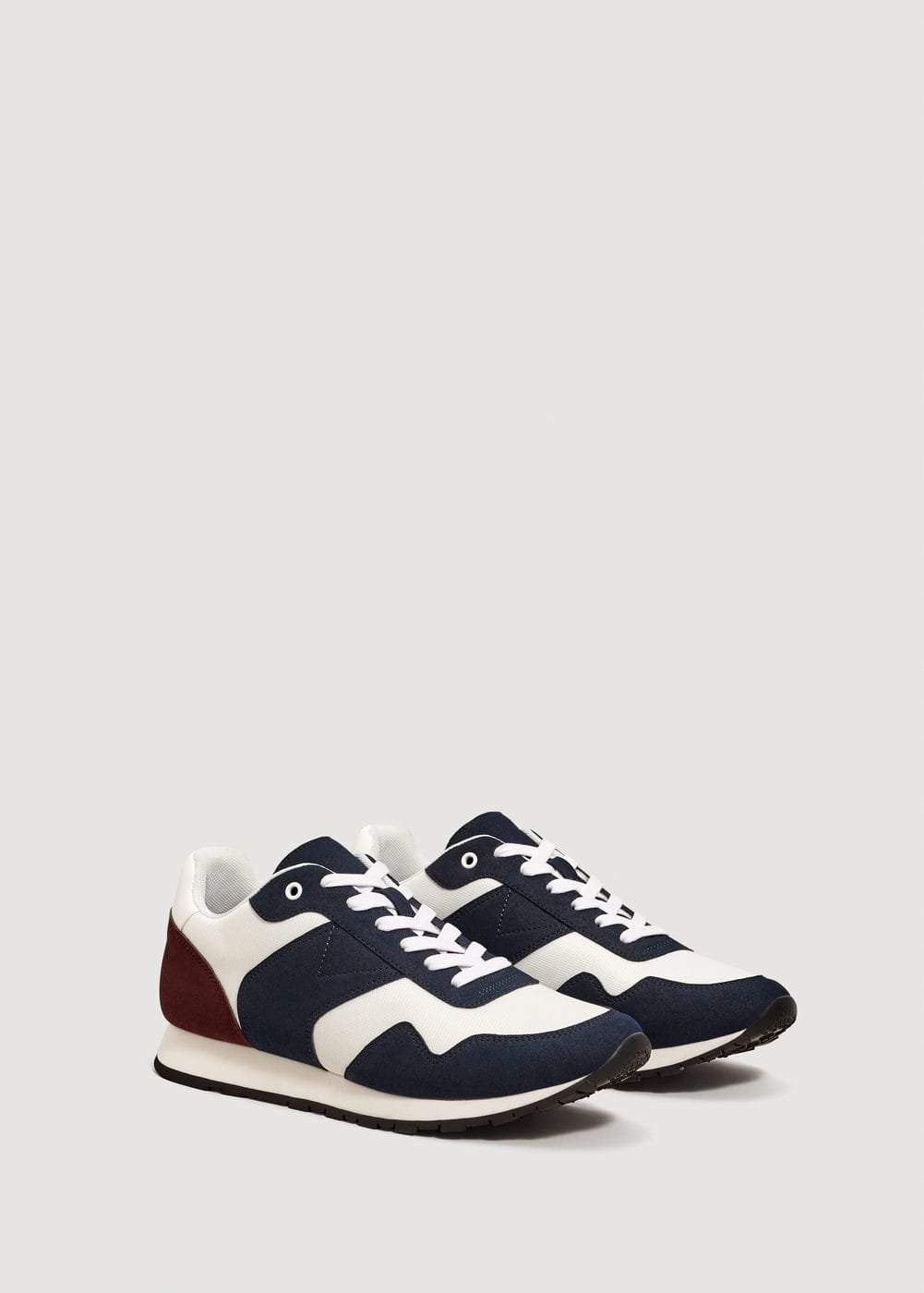 Contrast panel sneakers | MANGO MAN