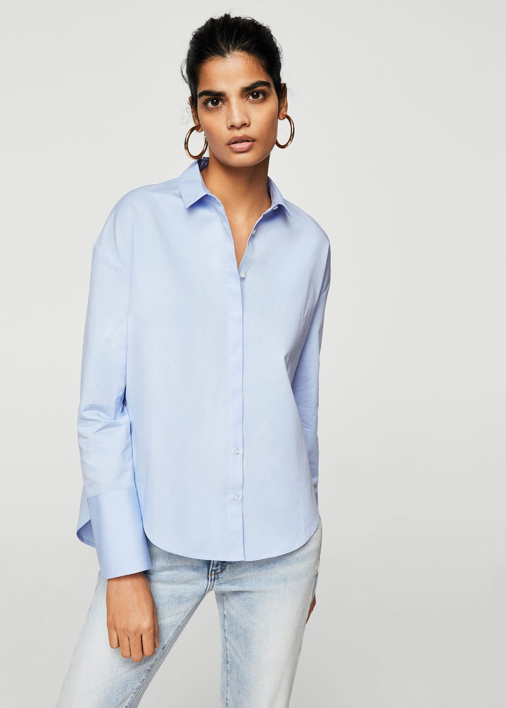 Pearls cotton shirt | MANGO
