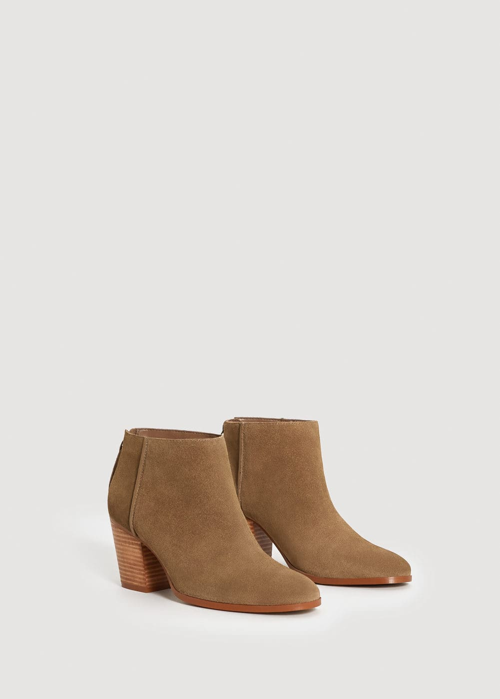 Suede leather ankle boots | MANGO