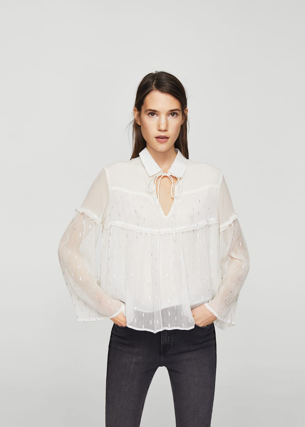 Decorative embroidery blouse | MANGO