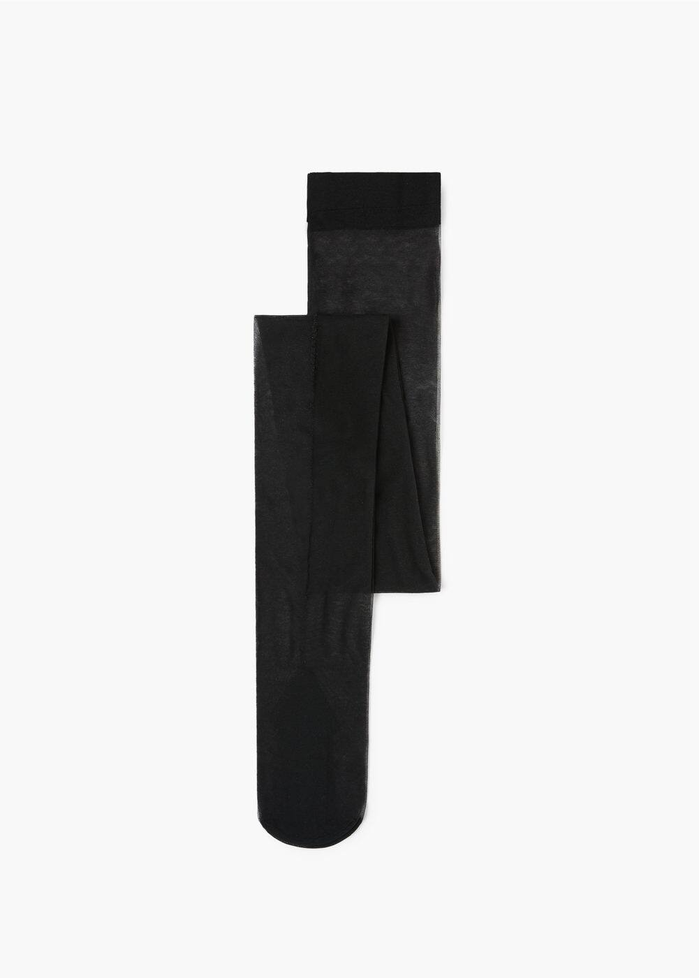 Contrasted seamed tights | MANGO