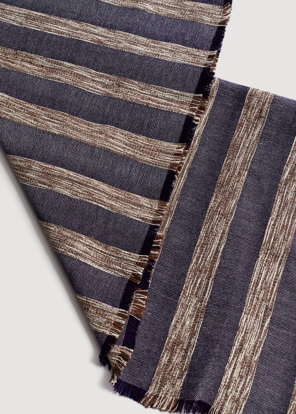 Striped textured scarf | MANGO MAN