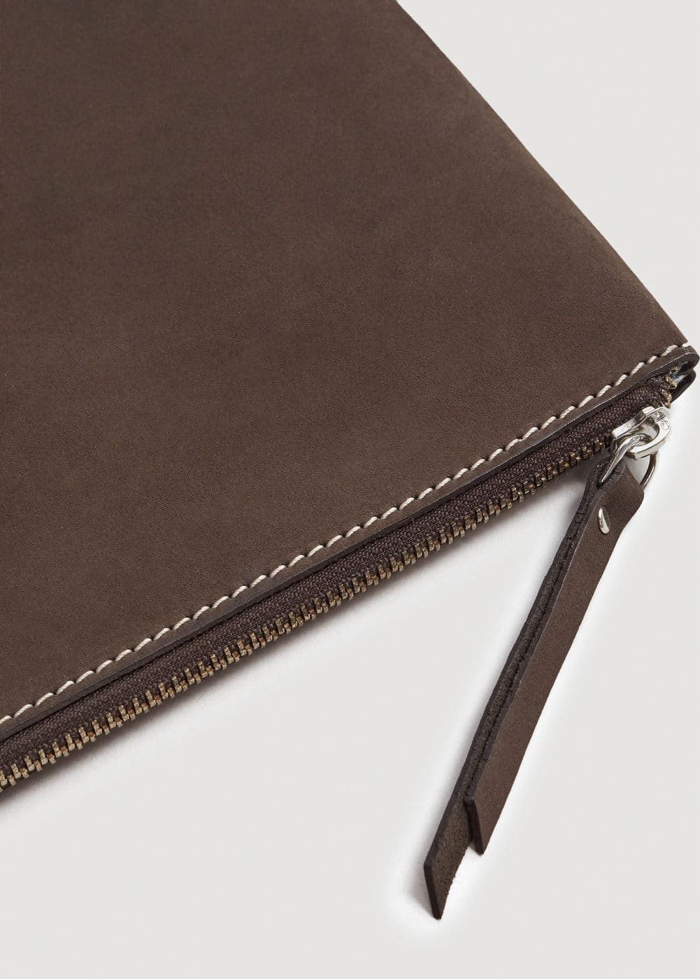 Nubuck leather documents holder  | MANGO MAN