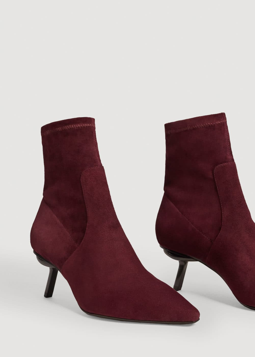 Suede sock ankle boots | MANGO