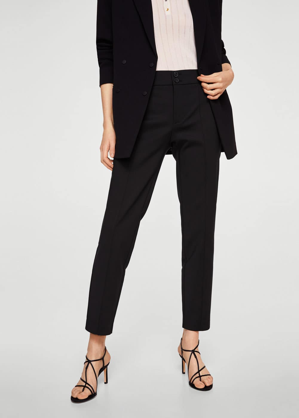 Straight-cut crop trousers   MNG