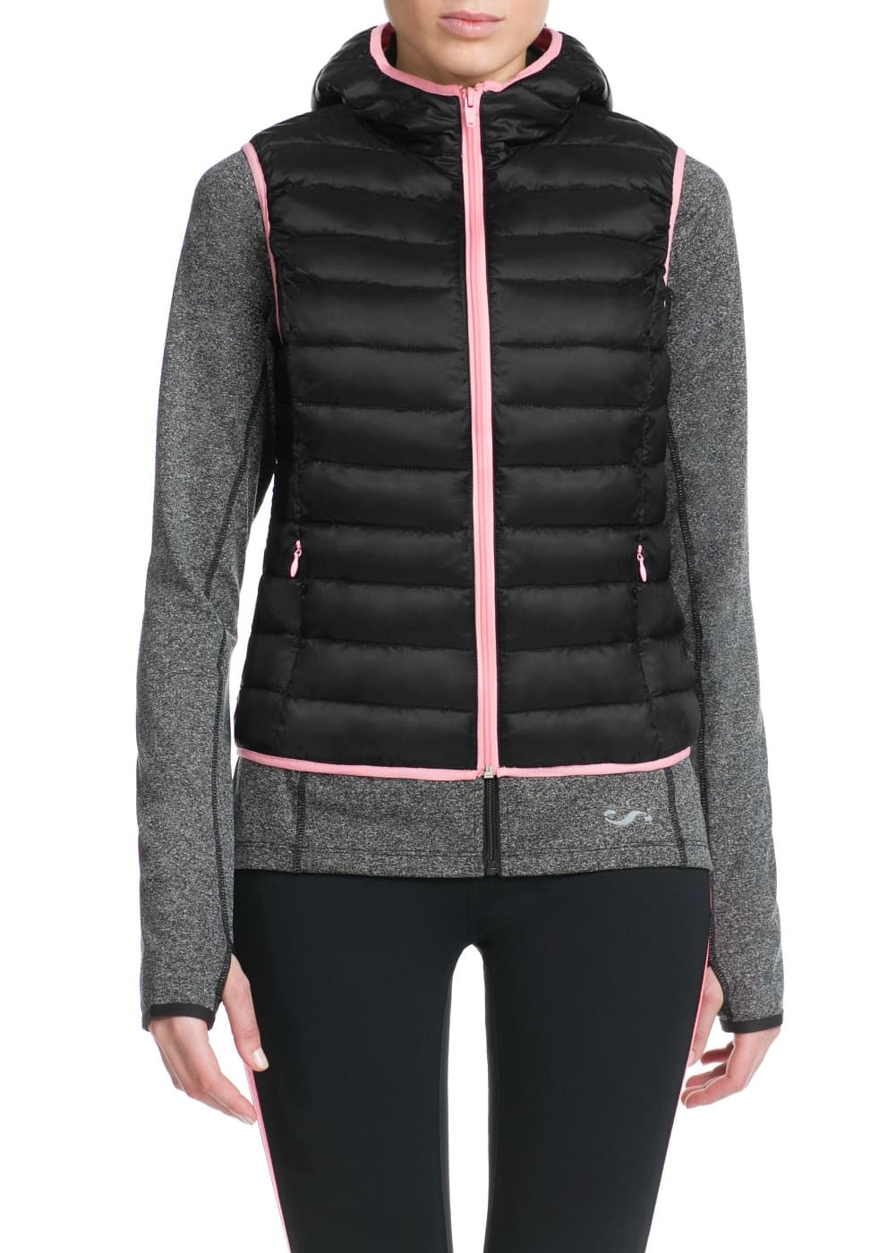 Fitness & running - chaleco outdoor capucha | MANGO
