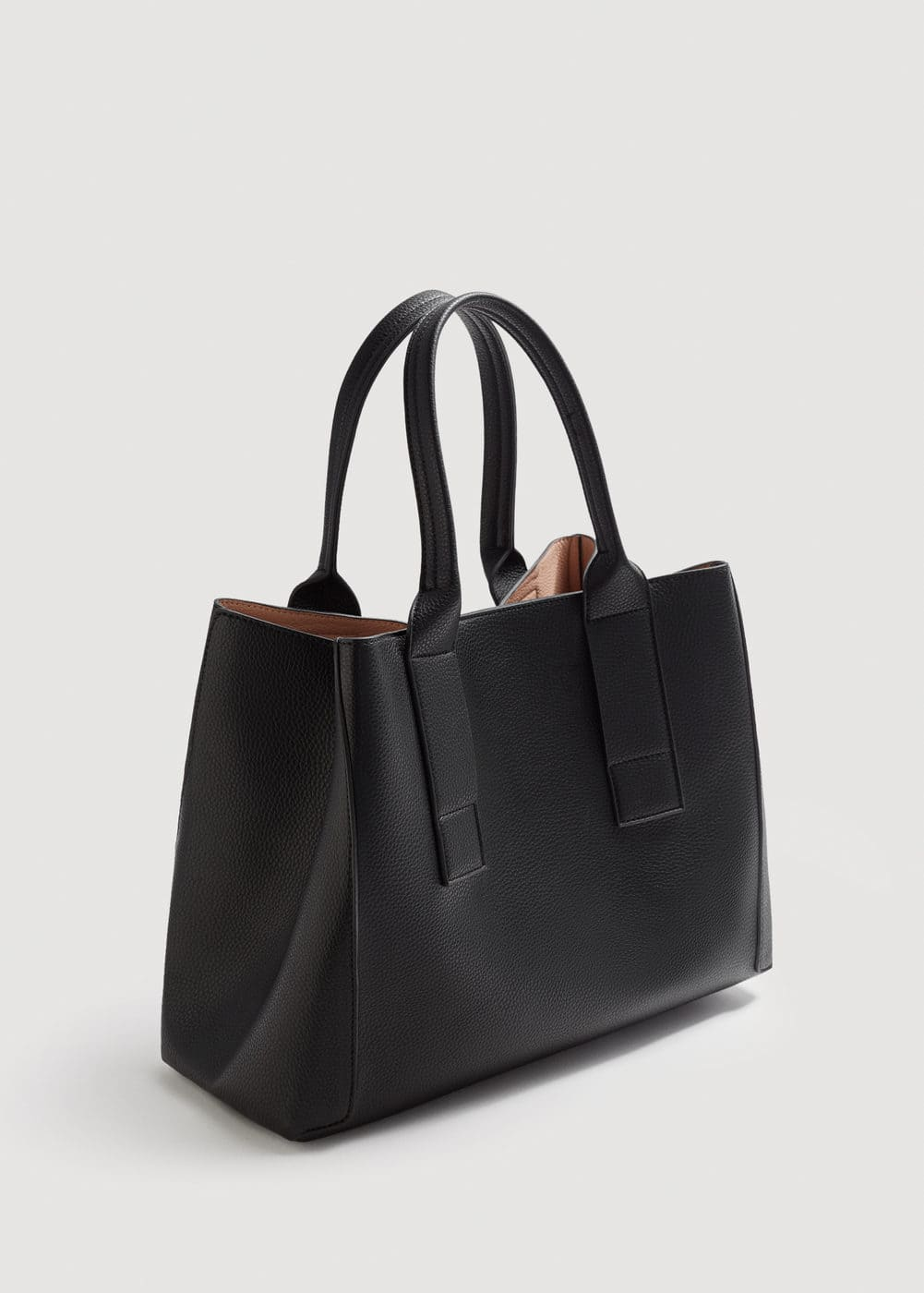 Pebbled effect shopper bag | MANGO