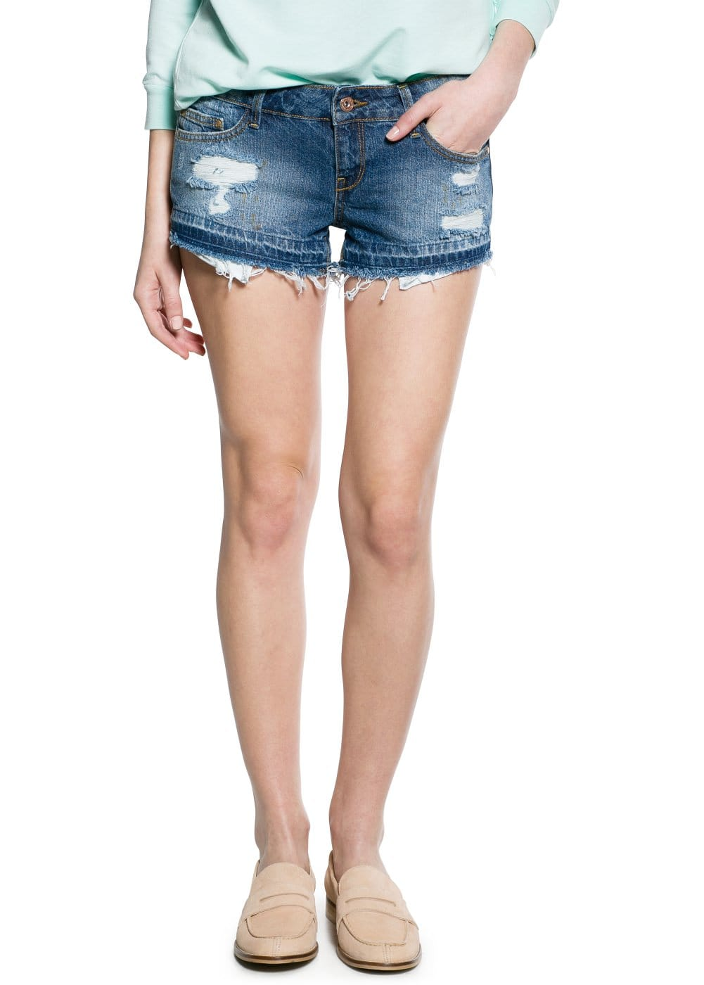 Short denim moyen | MANGO