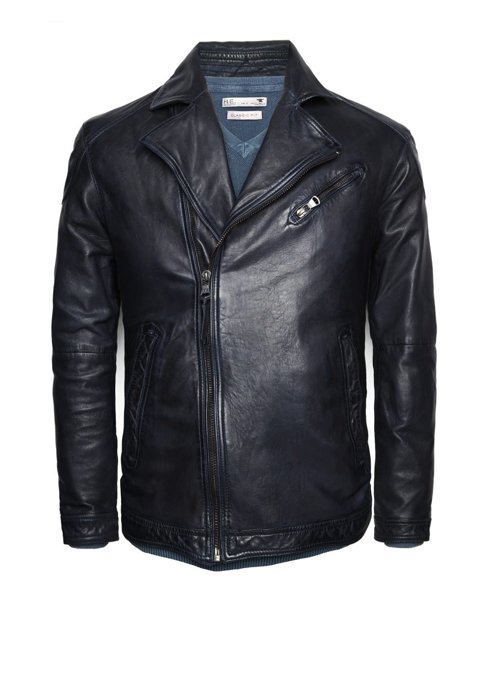 Leather biker jacket | MANGO MAN