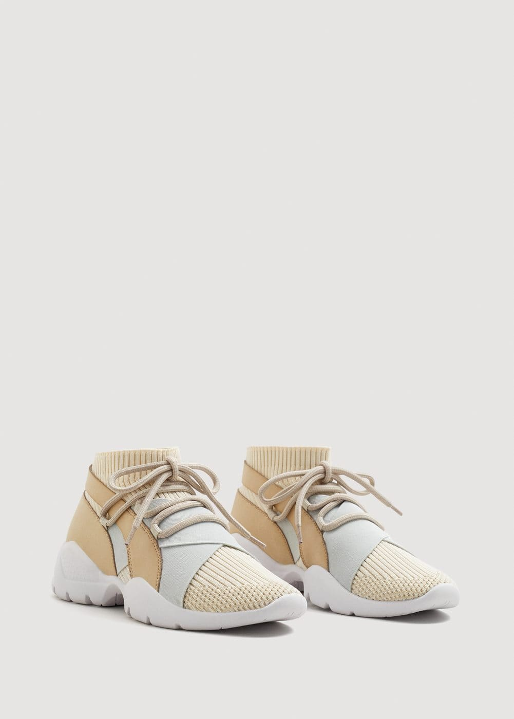 Sole sock sneakers | MANGO
