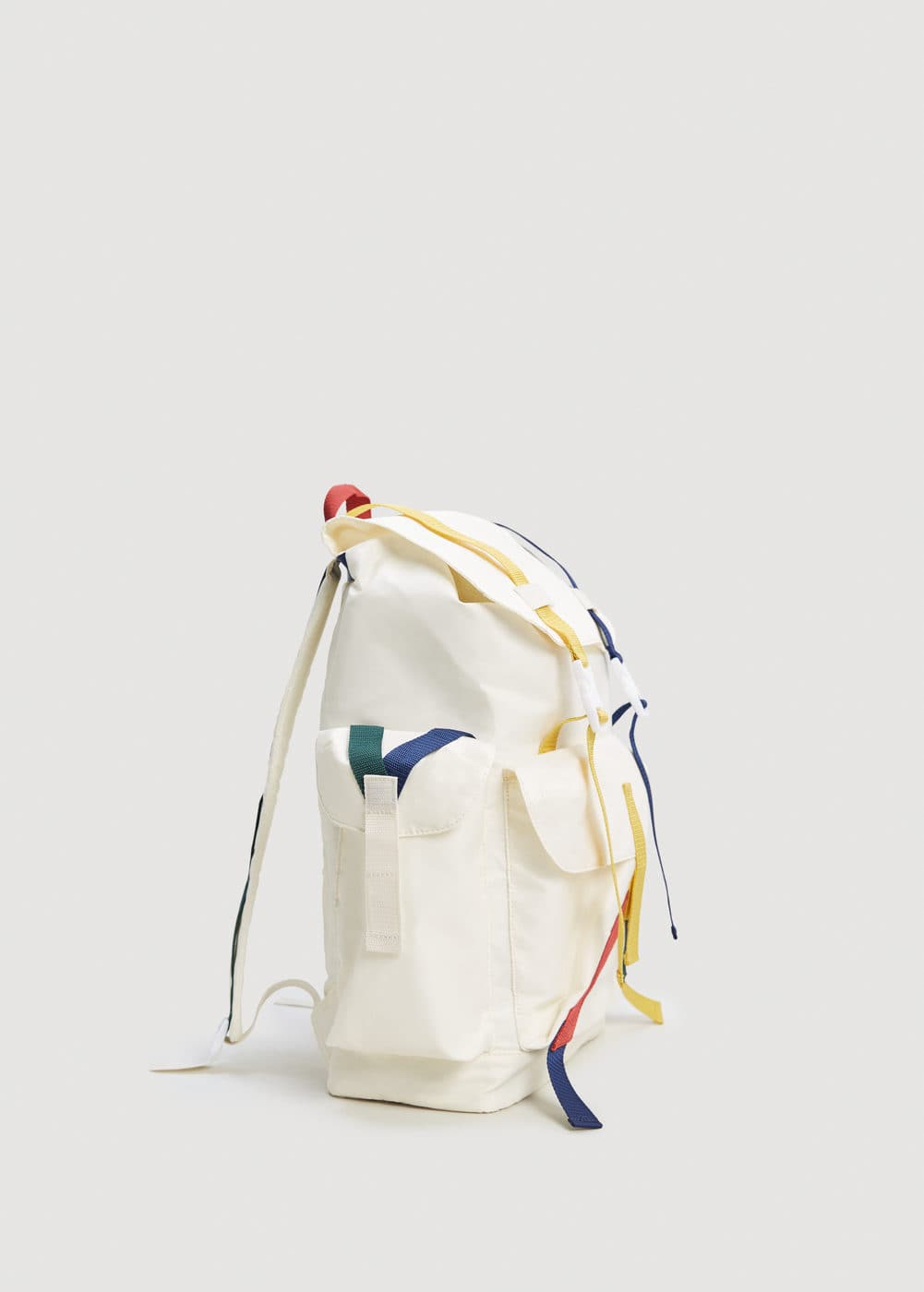 Colored straps pockets backpack  | MANGO MAN