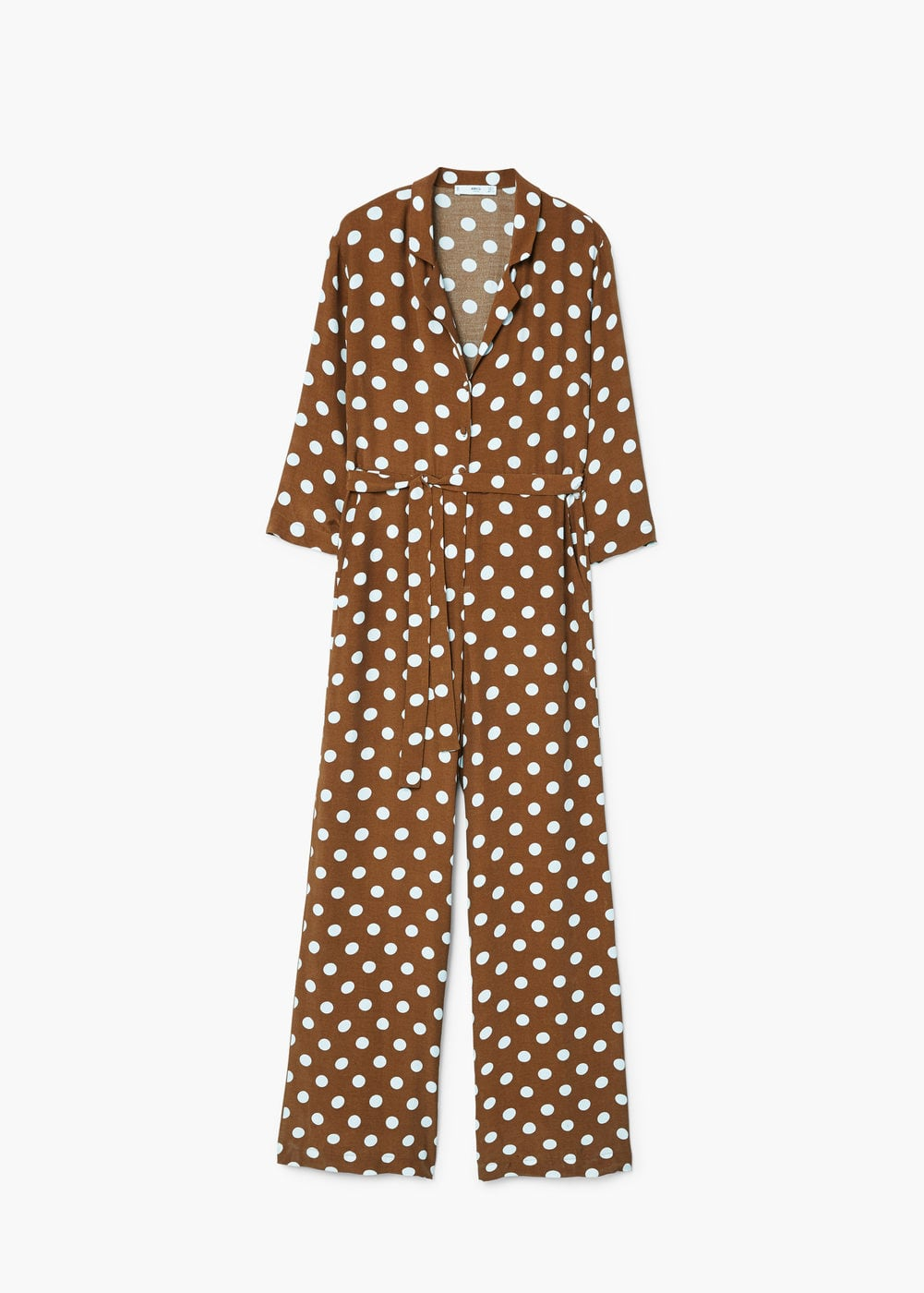 Polka-dot long jumpsuit | MANGO
