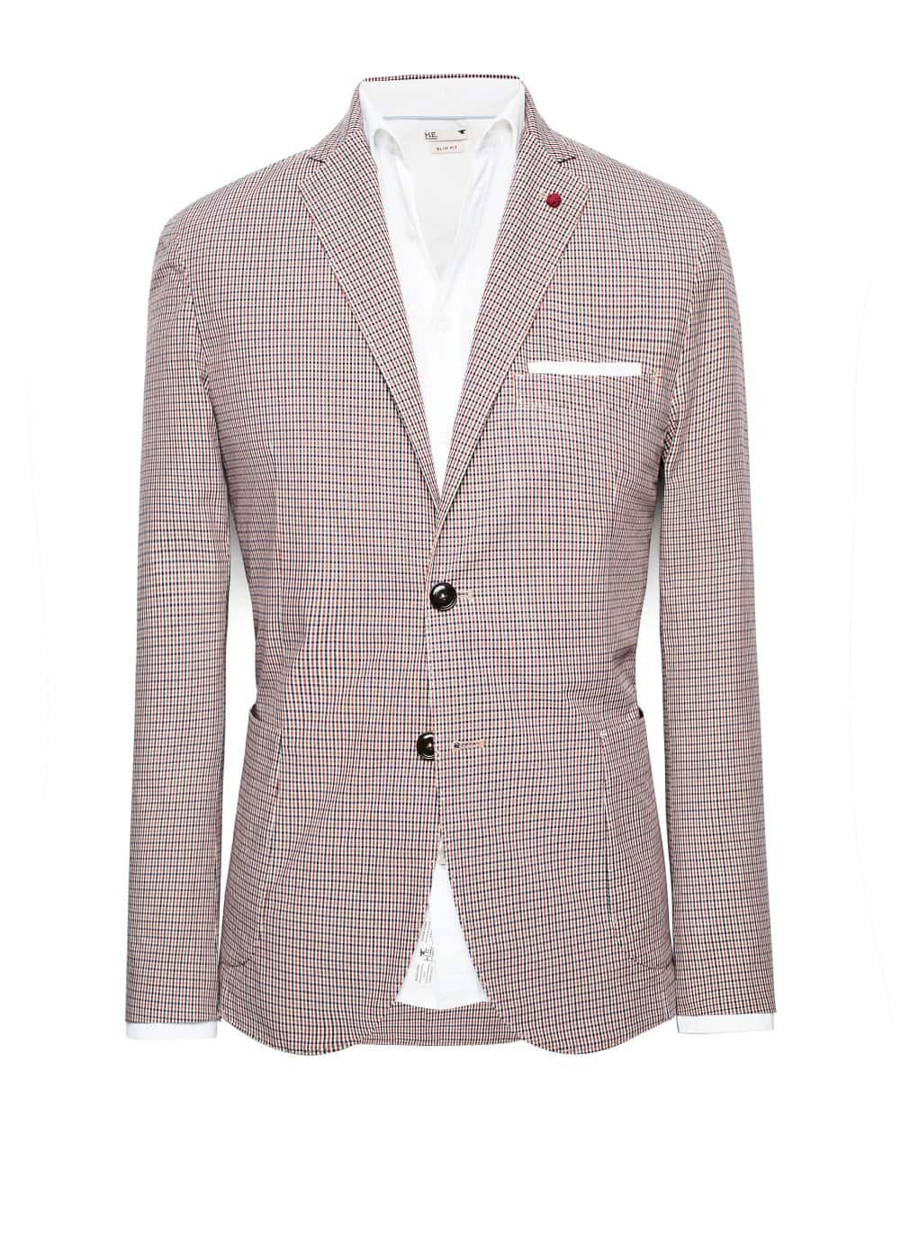 Unstructured check blazer | MANGO