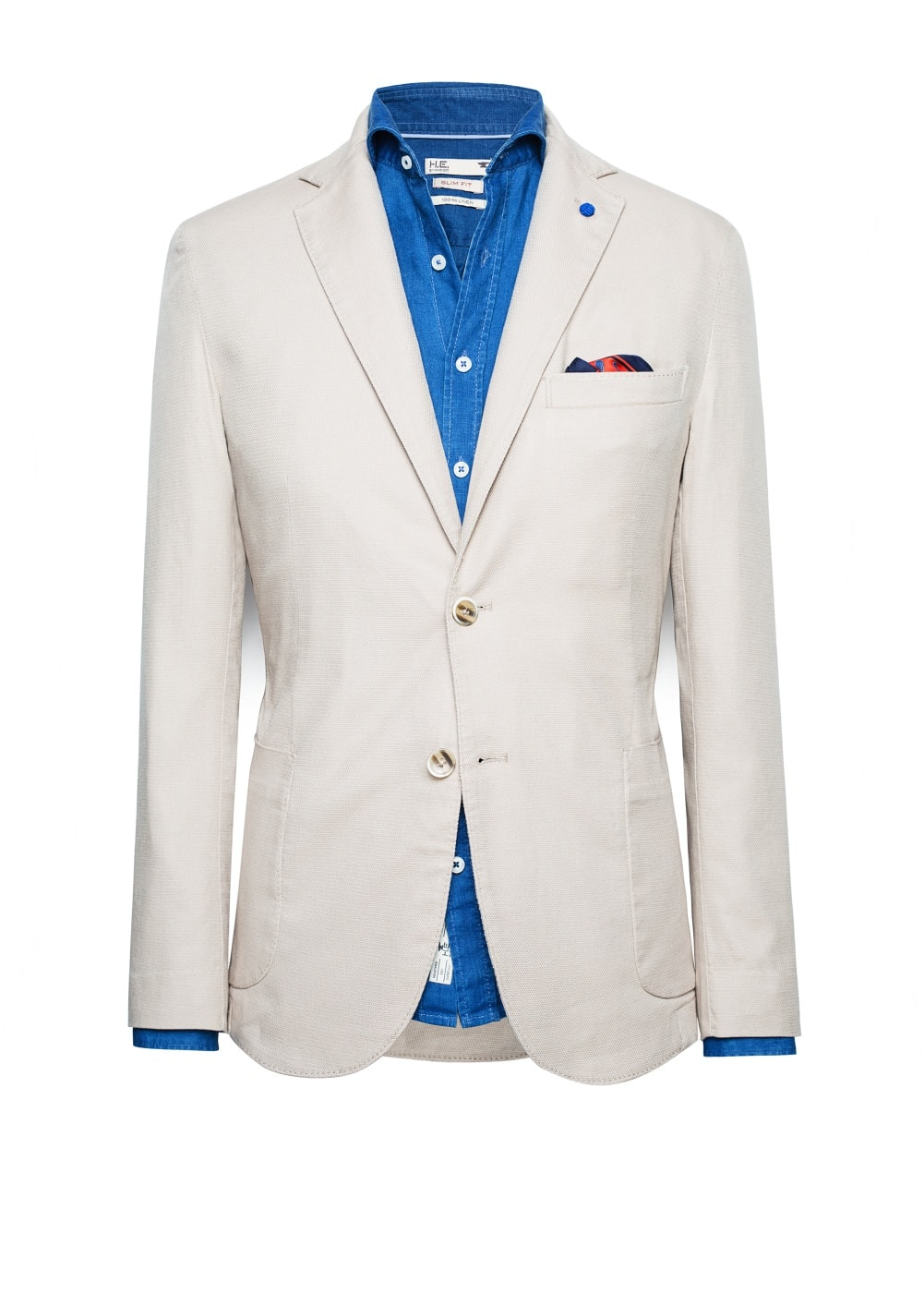 Unstructured textured cotton blazer | MANGO