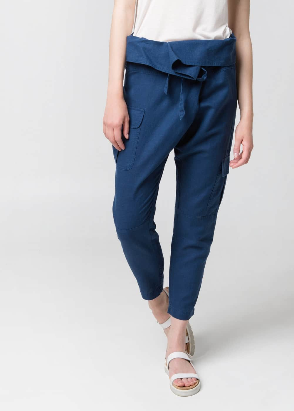 Wrap baggy trousers | MANGO