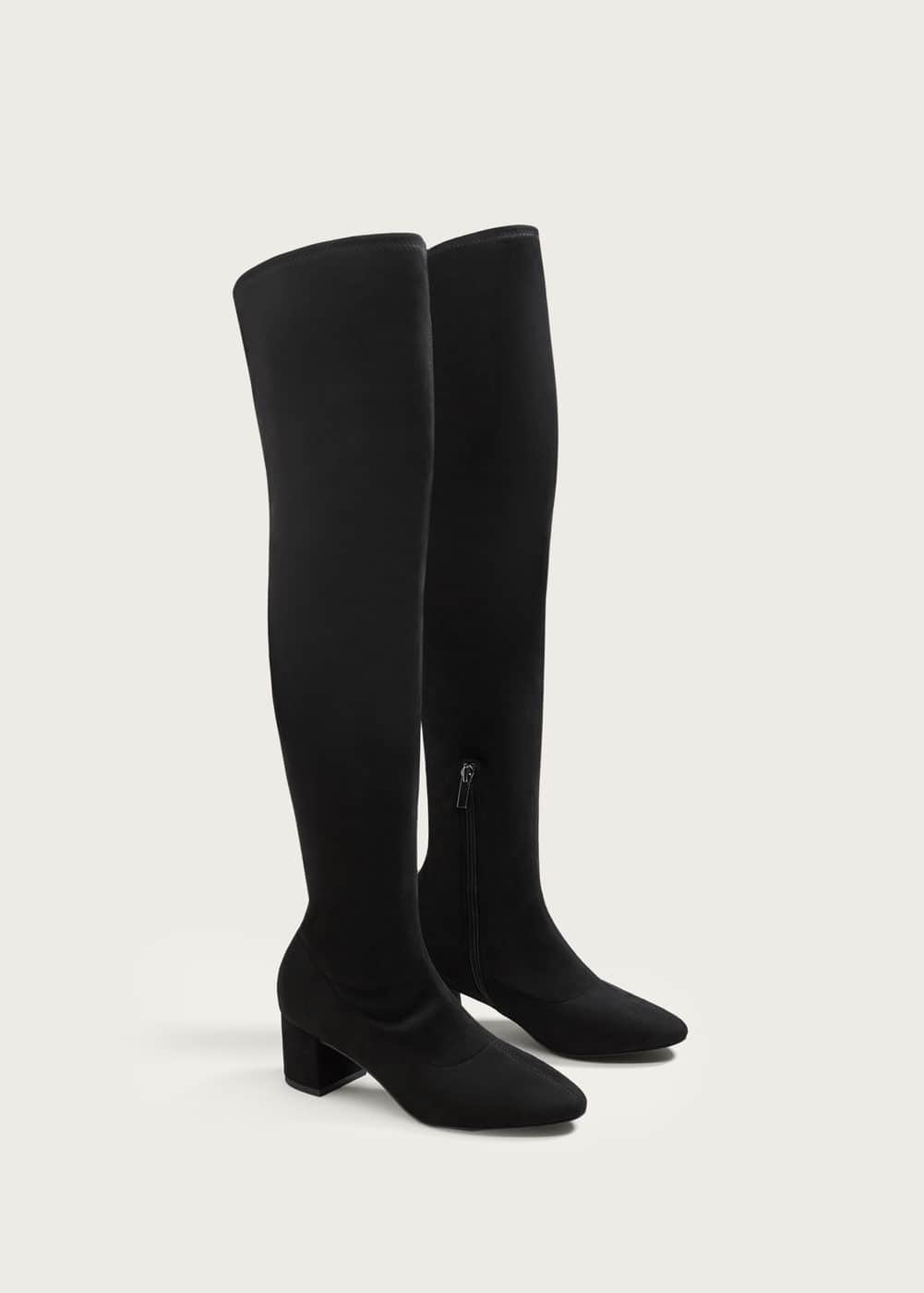 Over the knee heel boots | VIOLETA BY MANGO