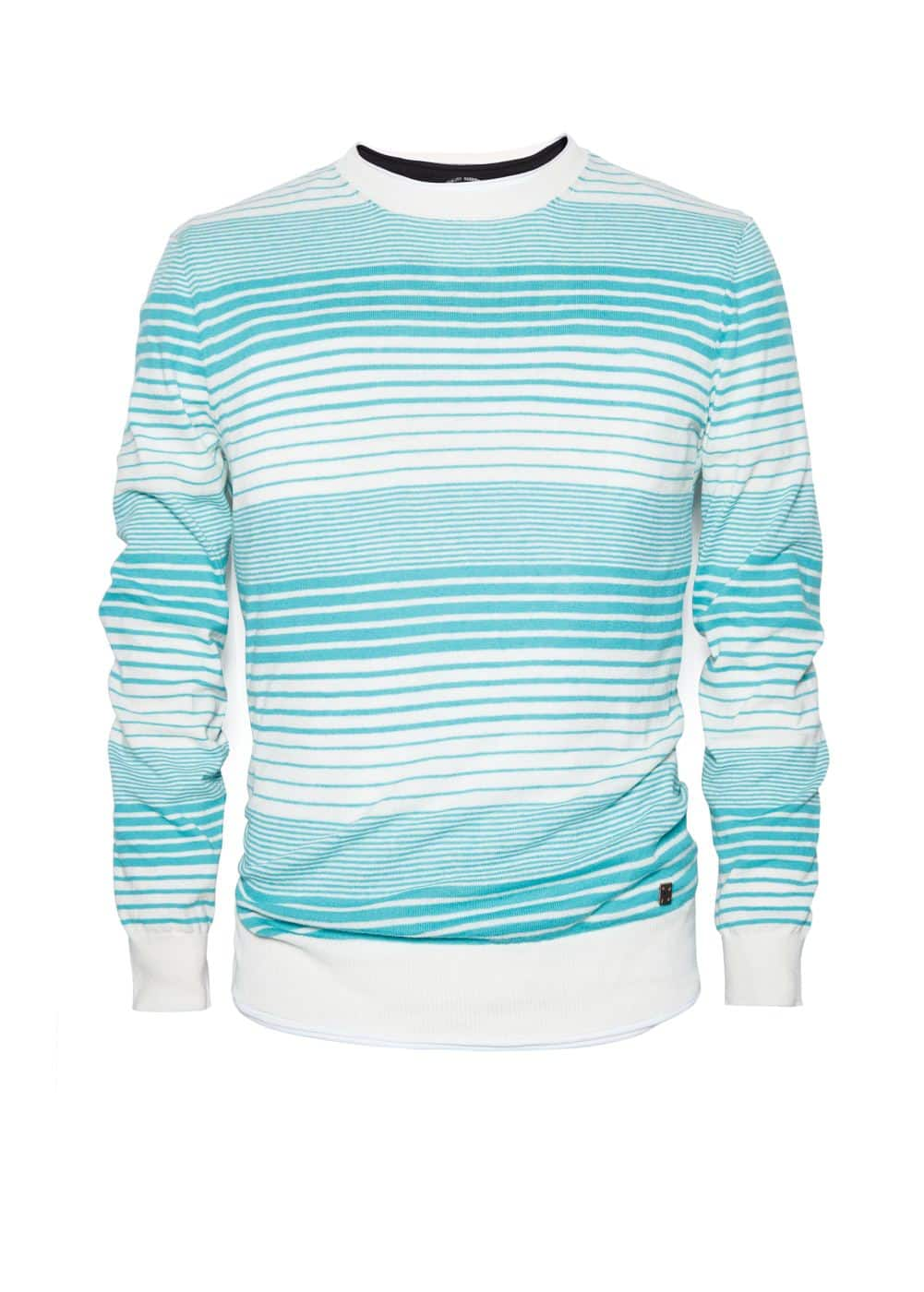 Striped cotton linen-blend sweater | MANGO MAN
