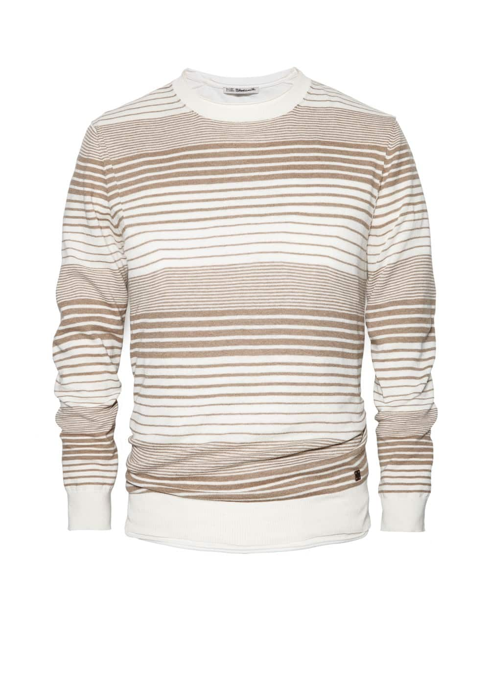 Striped cotton linen-blend sweater | MANGO