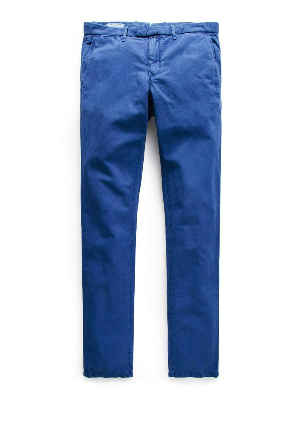 Chino slim-fit linho garment-dyed | MANGO