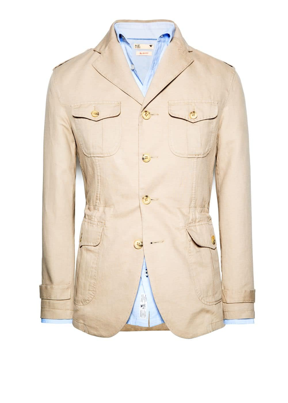 Linen cotton-blend field jacket | MANGO