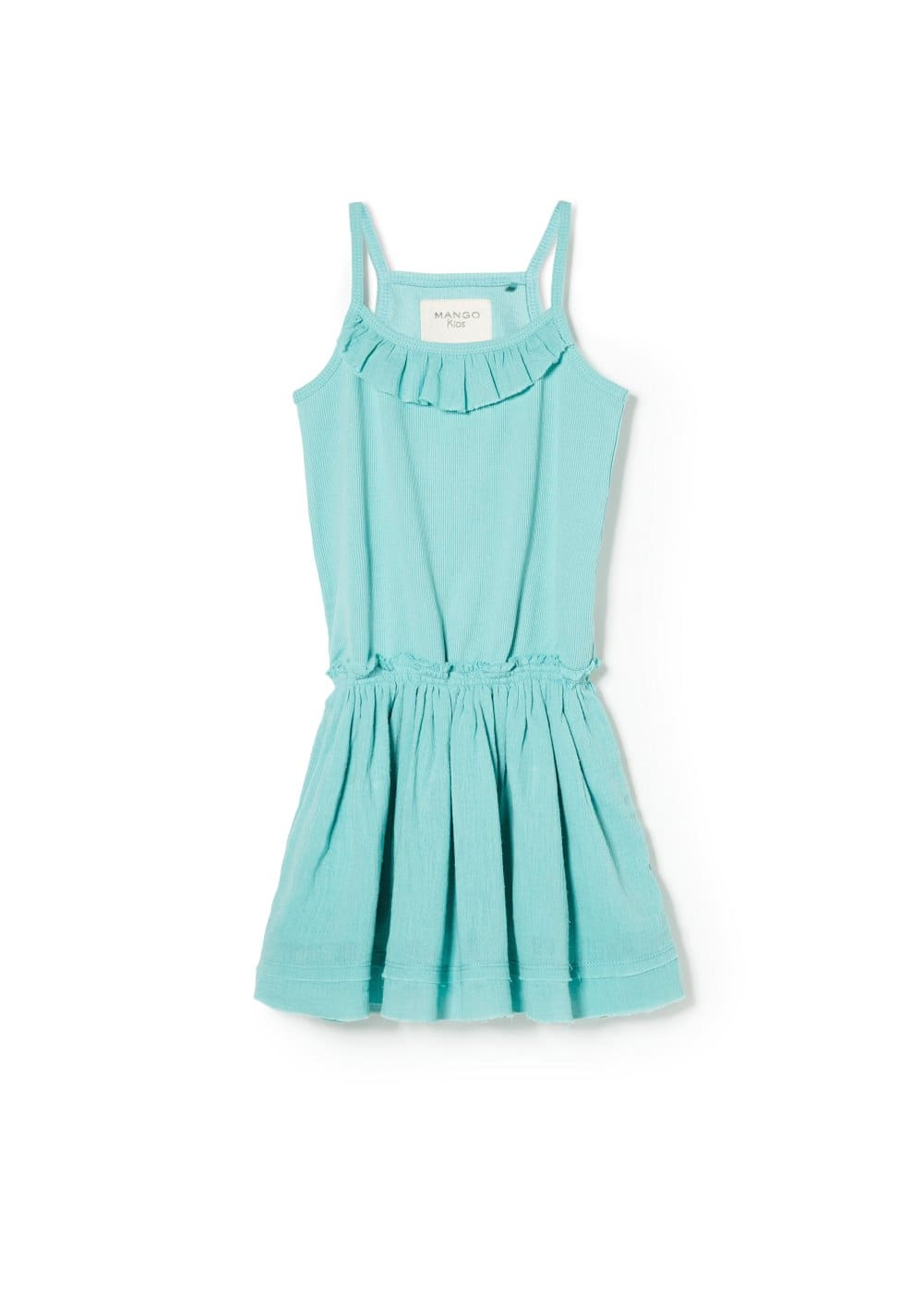 Ruffled ribbed dress | MANGO