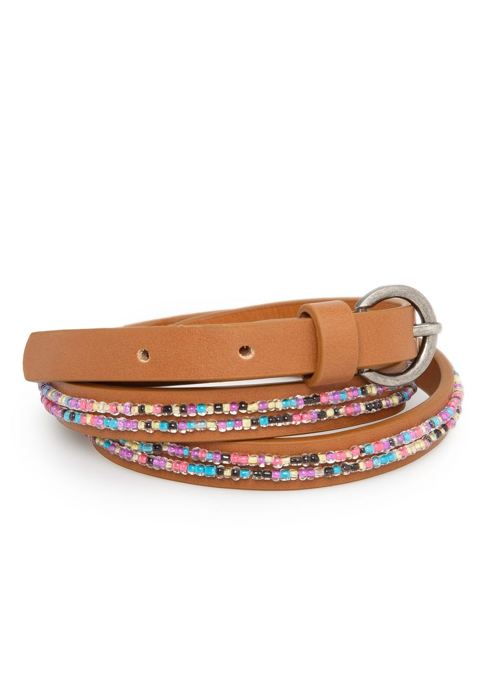 Multicolor bead belt | MANGO