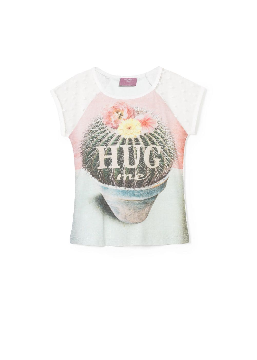 Mesh sleeve t-shirt | MANGO KIDS