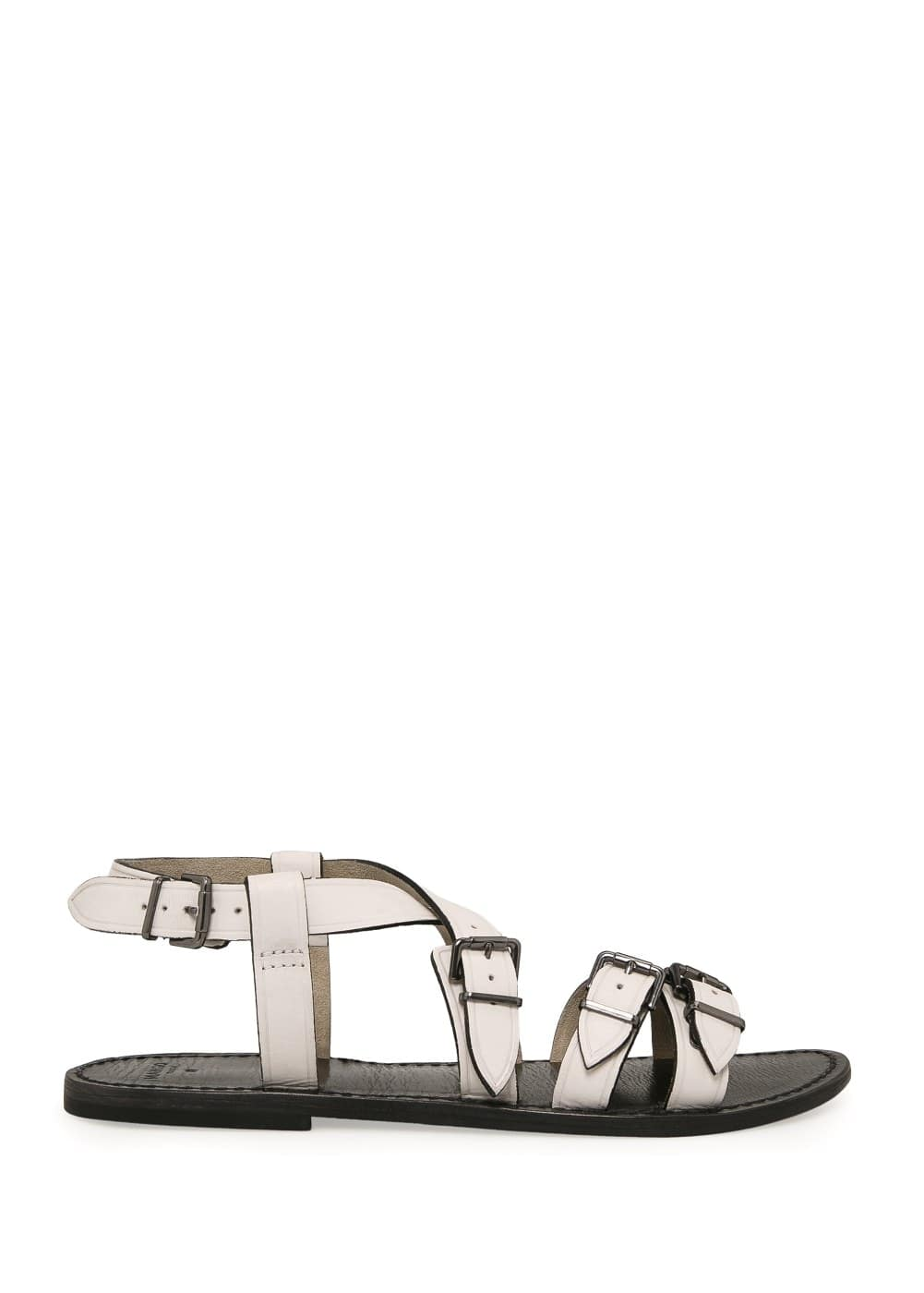Buckle leather sandals | MANGO