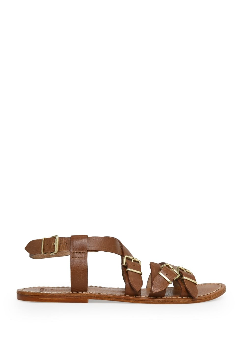 Buckle leather sandals | MANGO MAN
