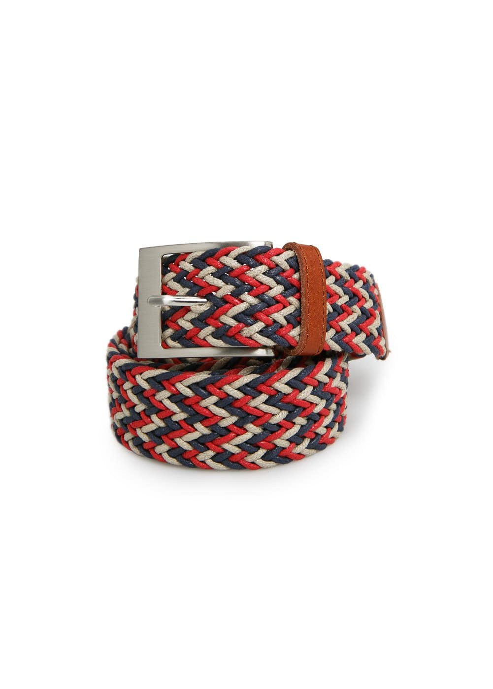 Multicolor braided belt | MANGO