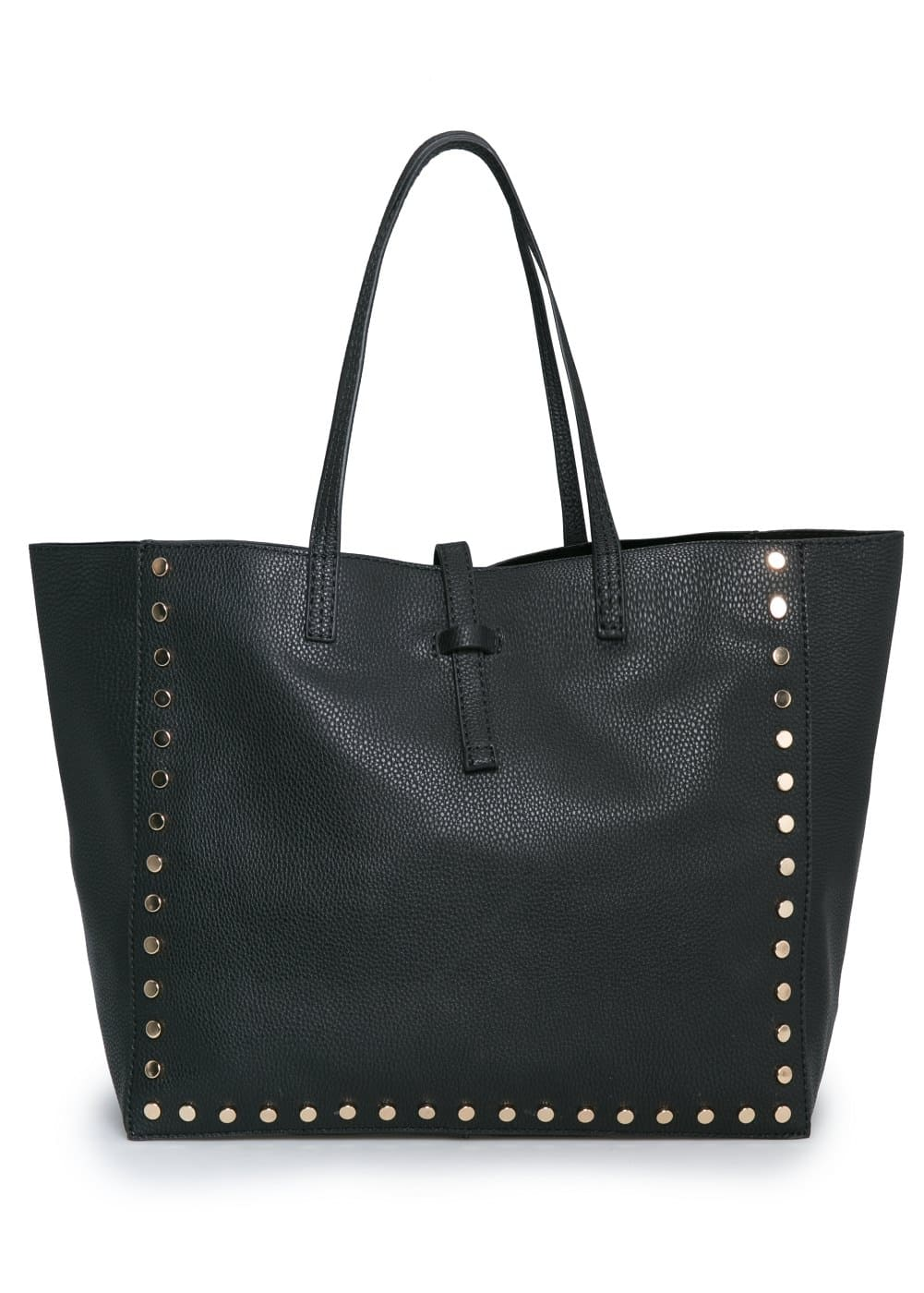 Carteira shopper rebites | MANGO
