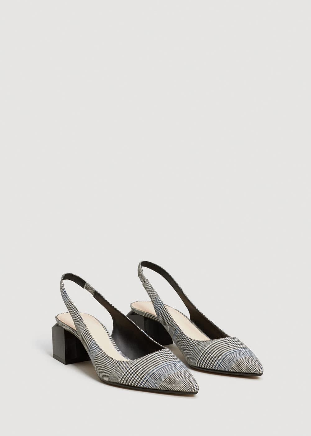 Slingback check shoes | MNG