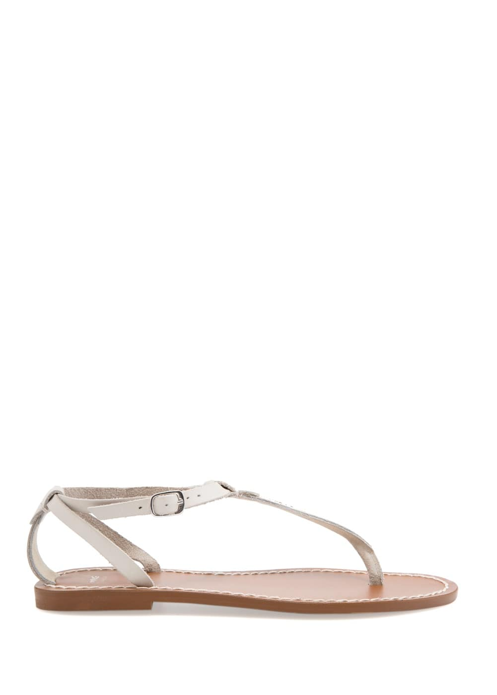 Leather t-bar sandals | MANGO