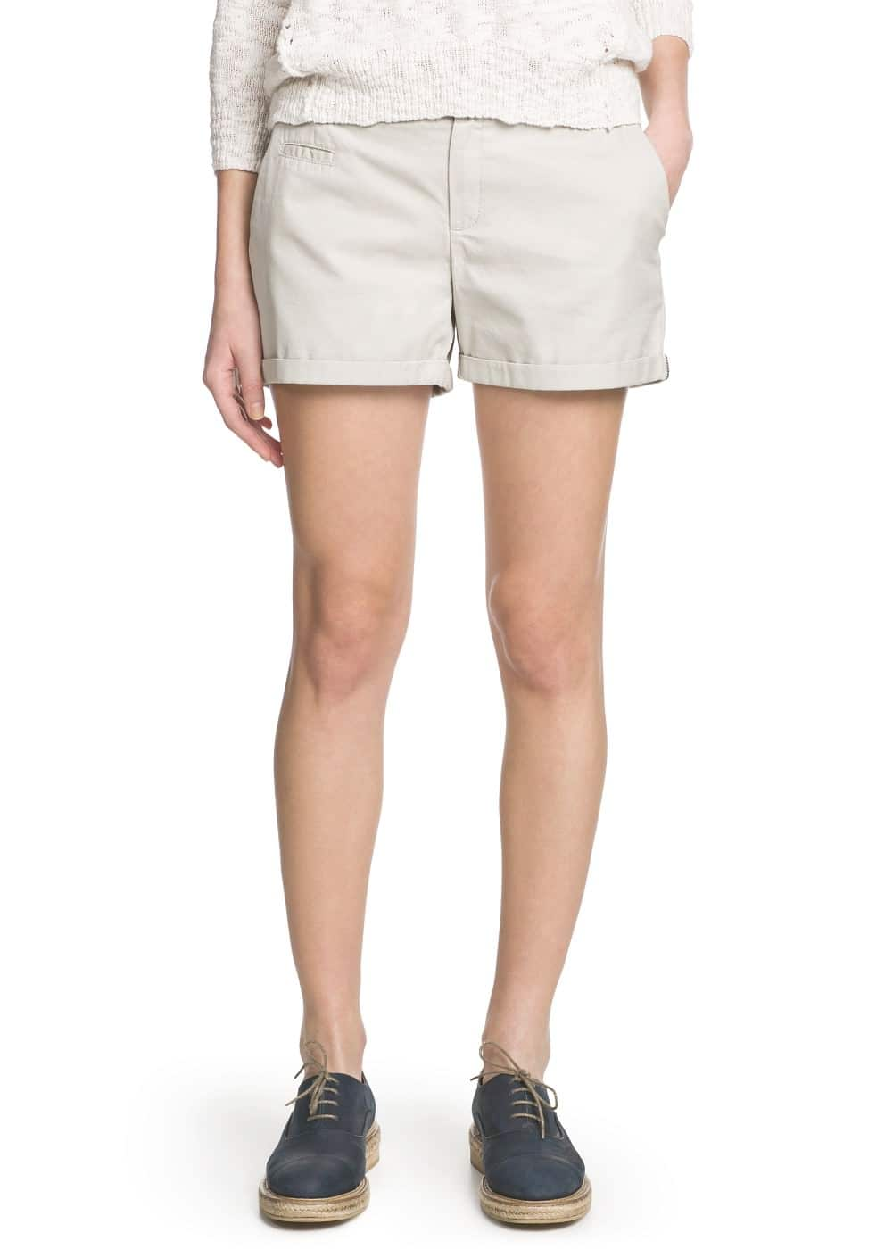 Cotton chino shorts | MANGO