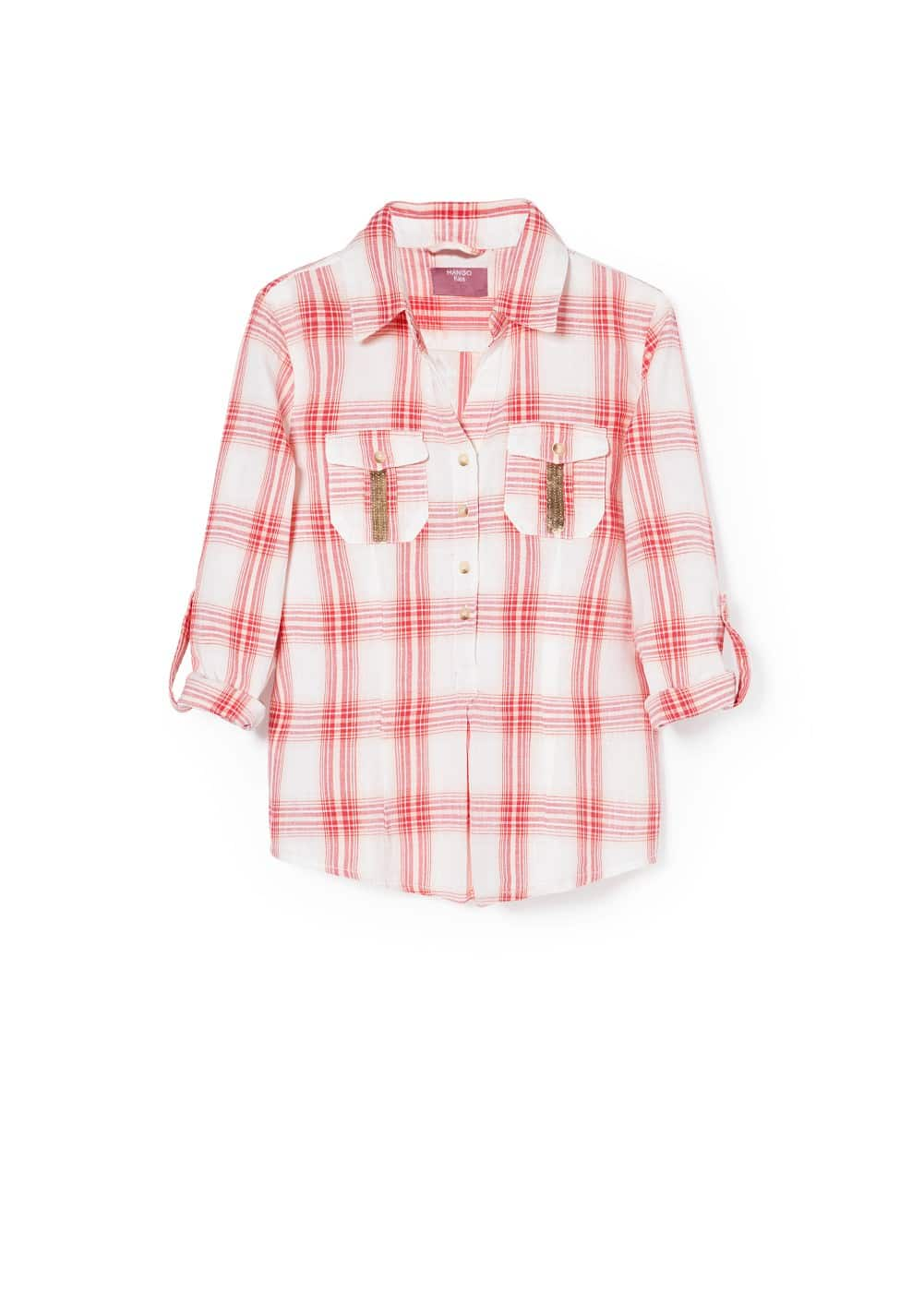 Sequined check shirt | MANGO KIDS