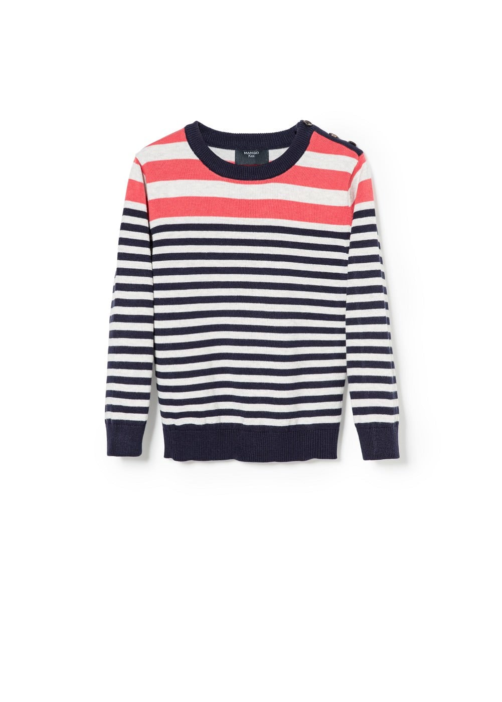 Bicolor stripe sweater | MANGO