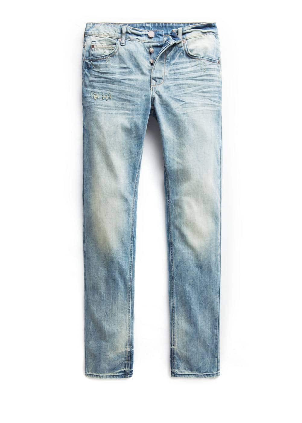 Slim-fit medium wash steve jeans | MANGO MAN