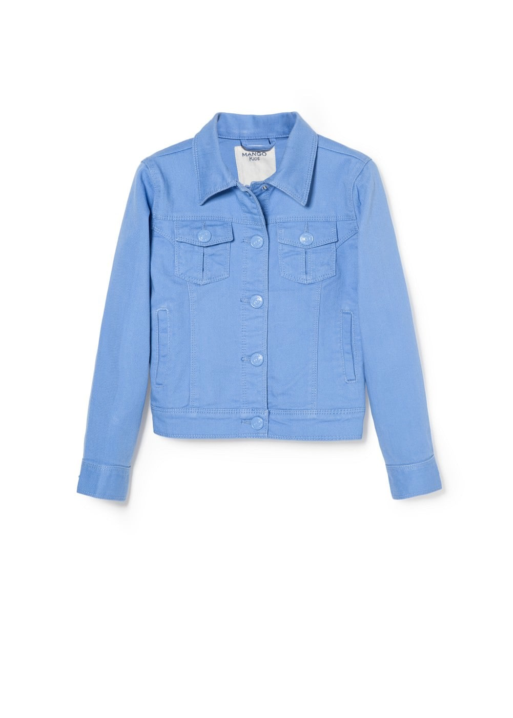 Colored denim jacket | MANGO KIDS