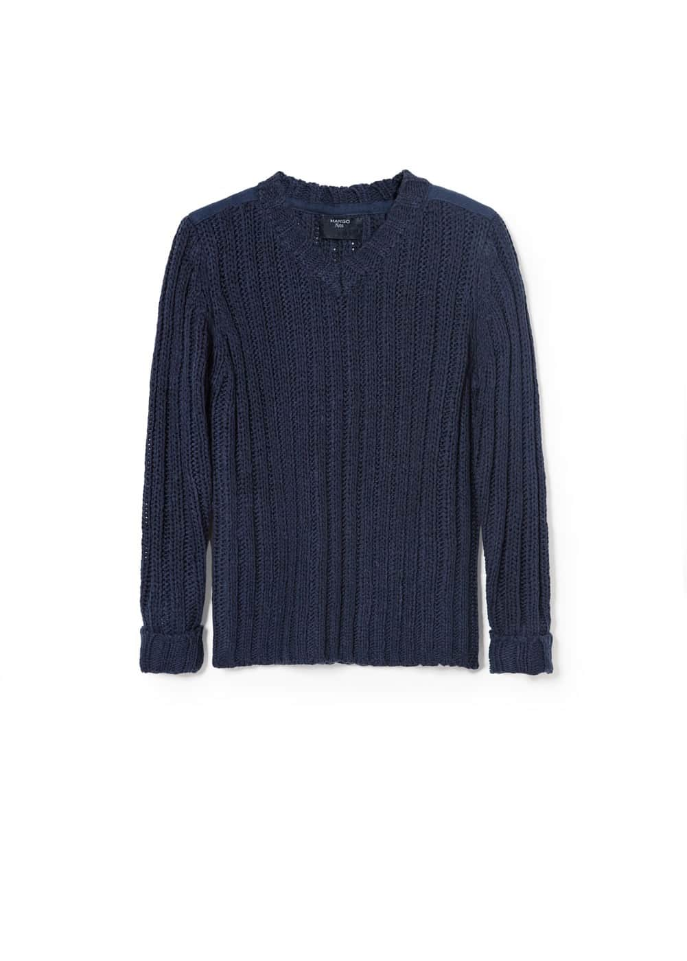 Appliqué ribbed sweater | MANGO KIDS
